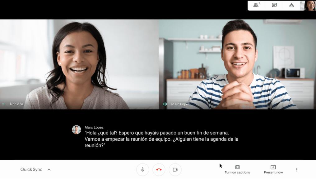 Онлайн-субтитры в Google Meet